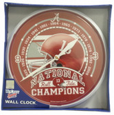 Alabama Crimson Tide Wall Clock - 2009 National Champs