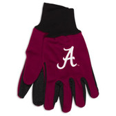 Alabama Crimson Tide Two Tone Gloves - Adult