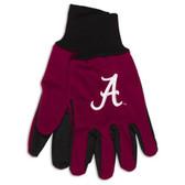 Alabama Crimson Tide Two Tone Gloves - Adult