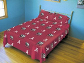 Alabama Crimson Tide Solid Sheet Set (King)