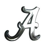Alabama Crimson Tide Silver Auto Emblem