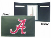 Alabama Crimson Tide Embroidered Leather Tri-Fold Wallet