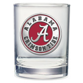 Alabama Crimson Tide Double Old Fashioned Glass Set