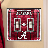 Alabama Crimson Tide Double Lightswitch Cover