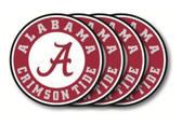 Alabama Crimson Tide Coaster Set - 4 Pack