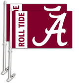 Alabama Crimson Tide Car Flag w/Wall Bracket Set Of 2 97102