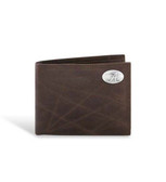 Alabama Crimson Tide Brown Wrinkle Leather Passcase Wallet