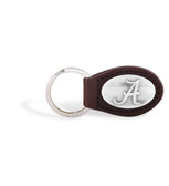 Alabama Crimson Tide Brown Leather Key Chain