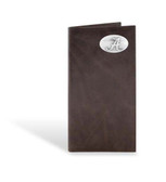 Alabama Crimson Tide Brown Wrinkle Leather Long Roper Wallet