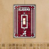 Alabama Crimson Tide Art Glass Switch Cover