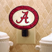 Alabama Crimson Tide Art Glass Nightlight