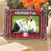 Alabama Crimson Tide Art Glass Horizontal Picture Frame