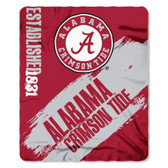 Alabama Crimson Tide 50x60 Fleece Blanket - College Painted Design