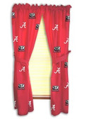 "Alabama Crimson Tide 42"" x 63"" Curtain Panels"