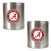 Alabama Crimson Tide 2pc Stainless Steel Can Holder Set