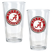 Alabama Crimson Tide 2pc Pint Ale Glass Set