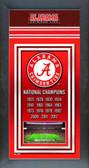 Alabama Crimson Tide 2013 BCS National Champions Framed Championship Banner AAPN109-25
