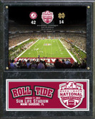 Alabama Crimson Tide 2012 BCS Champs Sun Life Stadium Plaque