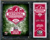 Alabama Crimson Tide 2011 BCS National Champions Plaque