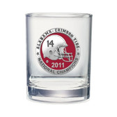 Alabama Crimson Tide 2011 BCS National Champions Double Old Fashion Glass