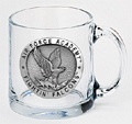 Air Force Falcons Clear Coffee Mug Set