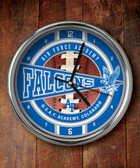 Air Force Falcons Chrome Clock