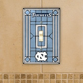 North Carolina Tar Heels Art Glass Switch Cover