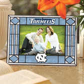 North Carolina Tar Heels Art Glass Horizontal Picture Frame