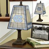 "???¡North Carolina Tar Heels 14"" Art Glass Table Lamp"