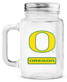 Oregon Ducks Mason Jar Glass With Lid