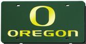 Oregon Ducks Green Laser Cut License Plate