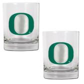 Oregon Ducks 2pc Rocks Glass Set