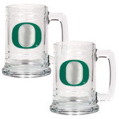 Oregon Ducks 2pc Glass Tankard Set