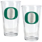 Oregon Ducks 2pc Pint Ale Glass Set