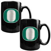 Oregon Ducks 2pc Coffee Mug Set