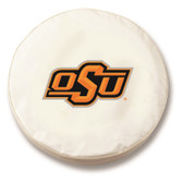 Oklahoma State Cowboys White Tire Cover, Large