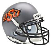 Oklahoma State Cowboys Schutt Mini Helmet - Gray Alternate Helmet #1
