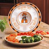 Oklahoma State Cowboys Ceramic Chip n Dip Server