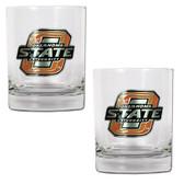 Oklahoma State Cowboys 2pc Rocks Glass Set