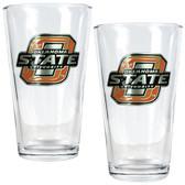 Oklahoma State Cowboys 2pc Pint Ale Glass Set