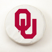 Oklahoma Sooners White Tire Cover, Small