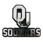 Oklahoma Sooners Silver Auto Emblem