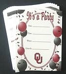 Oklahoma Sooners Party Invitations