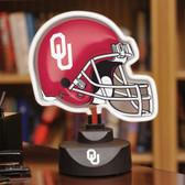 Oklahoma Sooners Neon Helmet Desk Lamp
