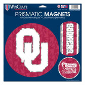 "Oklahoma Sooners Magnets - 11""x11 Prismatic Sheet"