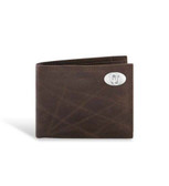 Oklahoma Sooners Leather Wrinkle Brown Passcase Wallet