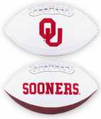 Oklahoma Sooners Full Size Embroidered Football