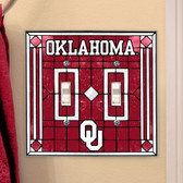 Oklahoma Sooners Double Lightswitch Cover