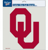 "Oklahoma Sooners Die-Cut Decal - 8""x8"" Color"