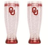 Oklahoma Sooners Crystal Pilsner Glass